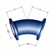 Отвод фланцевый 22° (FFK 22°)