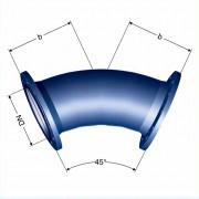 Отвод фланцевый 45° (FFK 45°)