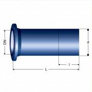 Патрубок фланец - гладкий конец (F)