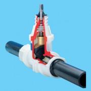 Вентиль с ПЭ патрубками для сварки (2670)