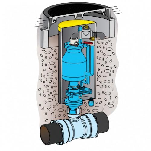 Комбинированный воздушный вантуз для канализации (9827, 9828)
